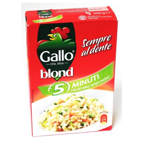 RISO BLOND 5 MINUTI GALLO GR.500