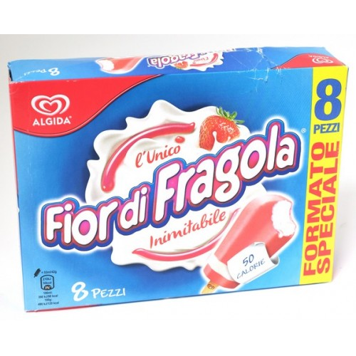 GELATO FIOR DI FRAGOLA ALGIDA PZ.8
