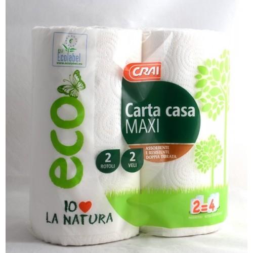 CARTA CASA MAXI CRAI 2 ROTOLI