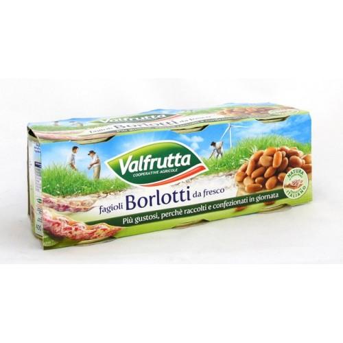 FAGIOLI BORLOTTI VALFRUTTA GR.400X3