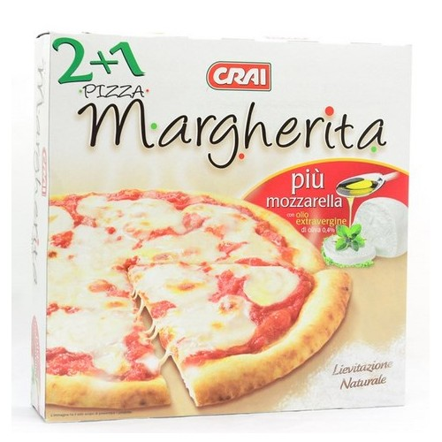 PIZZA MARGHERITA CRAI PZ.2+1 GR.840