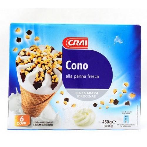 GELATO CONO PANNA CRAI PZ.6