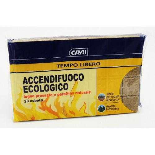 ACCENDIFUOCO ECOLOGICO CRAI 28 CUBI