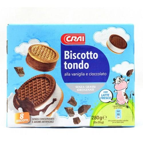 GELATO BISCOTTI TONDI CRAI GR.280