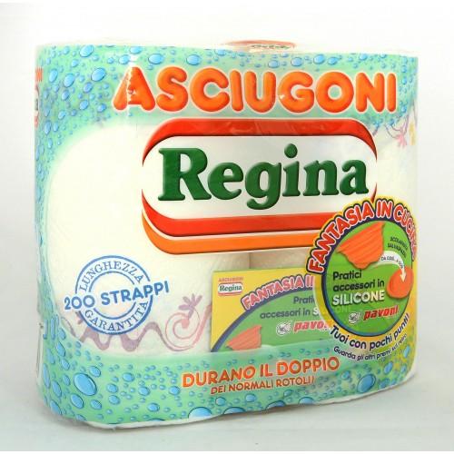ASCIUGATUTTO ASCIUGONI REGINA X2 ROTOLI