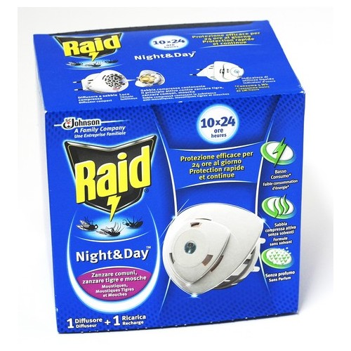 INSETTICIDA NIGHT DAY ZANZ BASE RAID