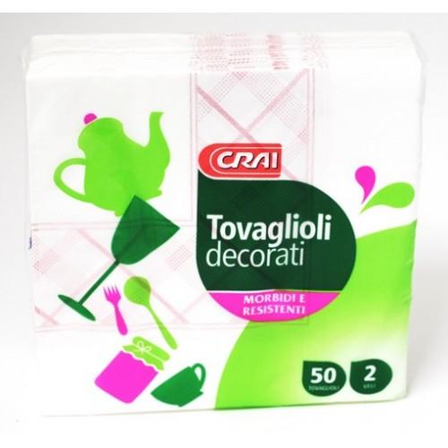 TOVAGLIOLI DECOR. CRAI 2V 33X33 PZ.50